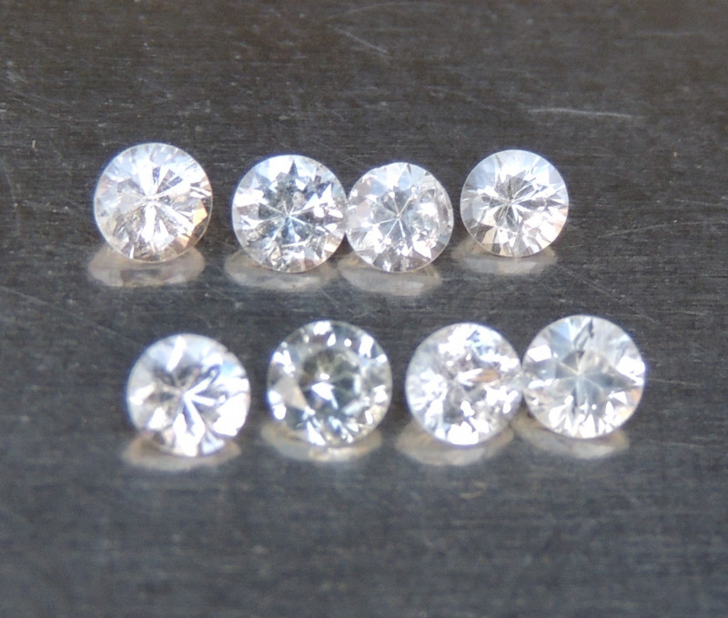 3mm Round Sapphire White