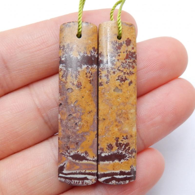 Chohua Jasper Cabochon Pairs ,Handmade Gemstone ,Lucky Stone B665