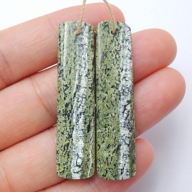 Green Zebra Earrings ,Handmade Gemstone ,Lucky Stone,Wholesale  B692