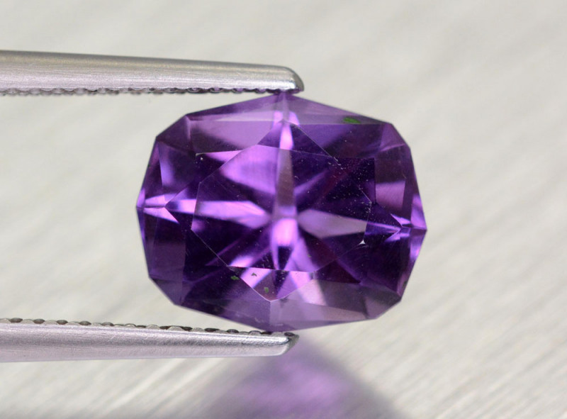 3.5 Cts Brilliant Cut Amethyst Gemstone@Brazil
