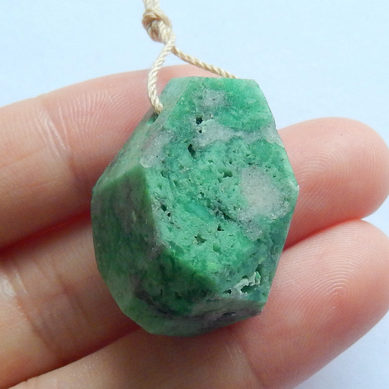 Sale GreenTurquoise Pendant ,Handmade Gemstone ,Turquoise Pendant B635