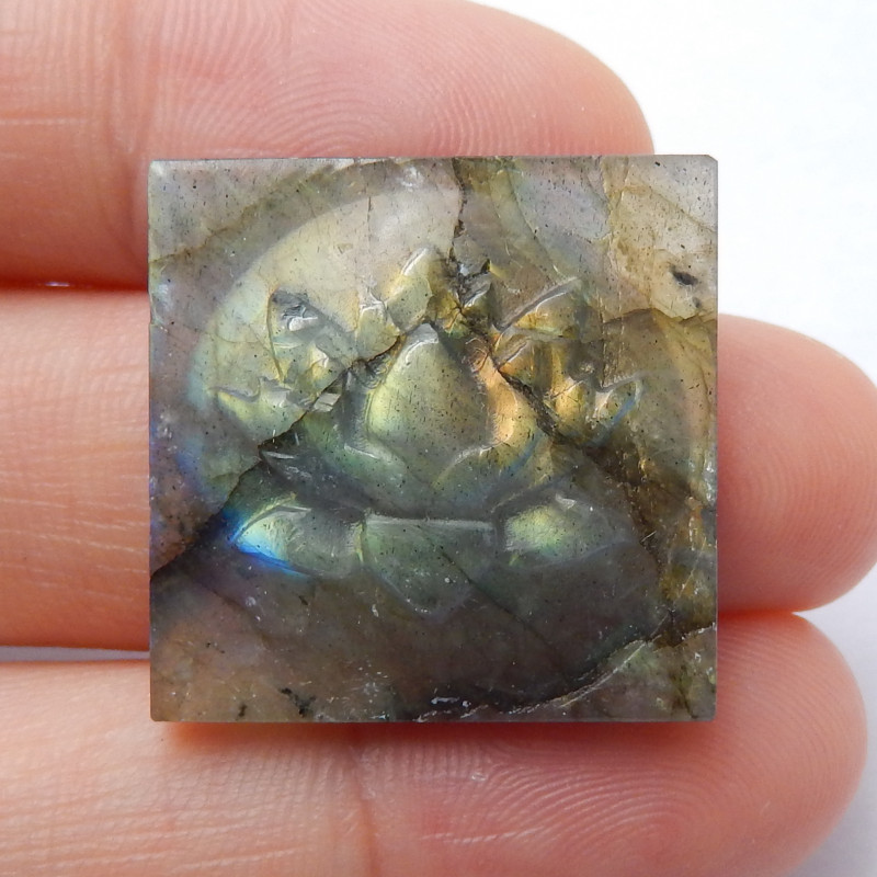 22.5ct Labradorite Square Labradorite Cabochon, healing Stone B620