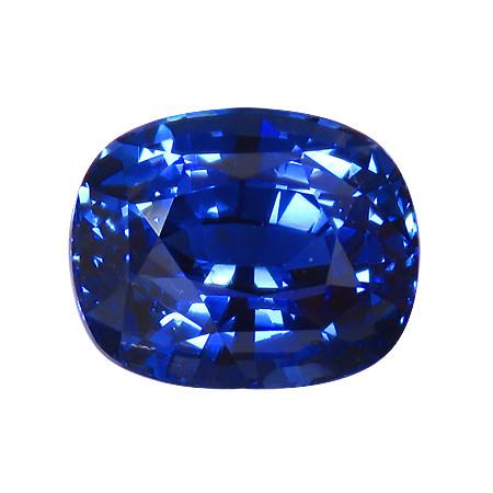 RARE 4.04 ct Cushion Cut Blue Sapphire  (Cornflower Blue)