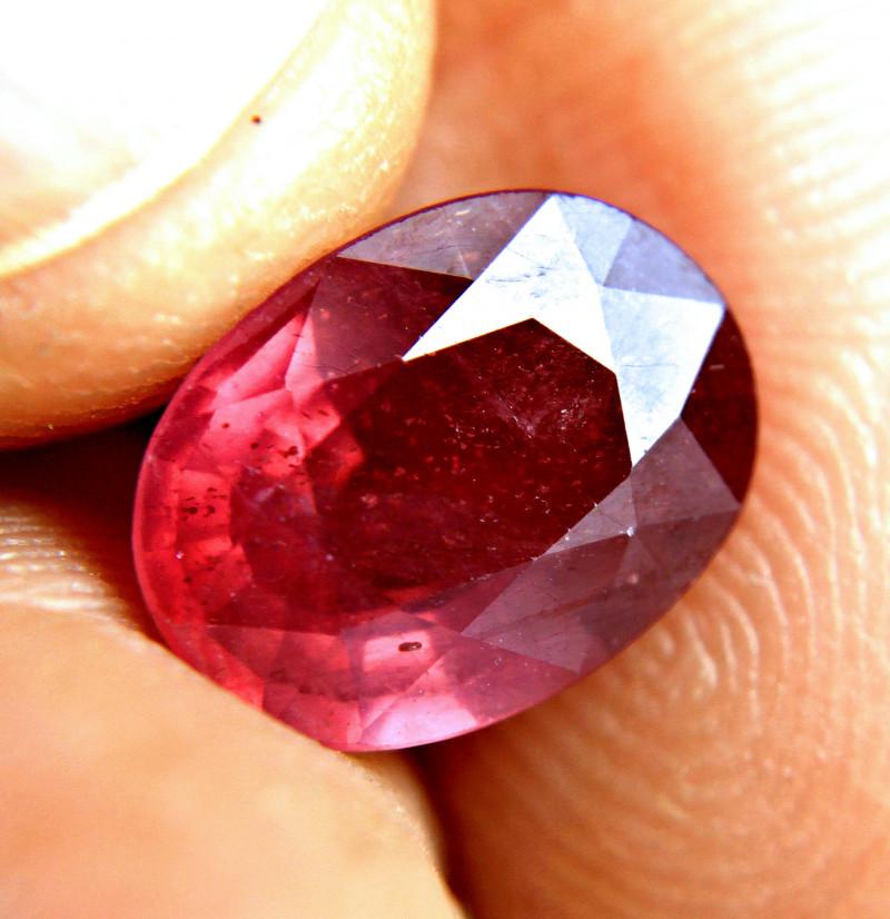 5.30 Carat Fiery Purplish Red Ruby - Gorgeous