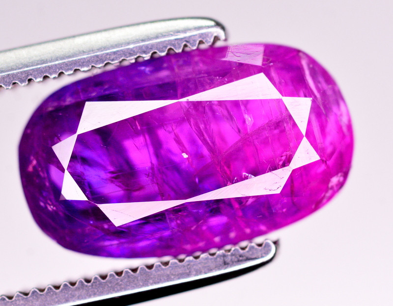 Certified ~3.40 Ct Natural  Bi Color  Sapphire From Kashmir
