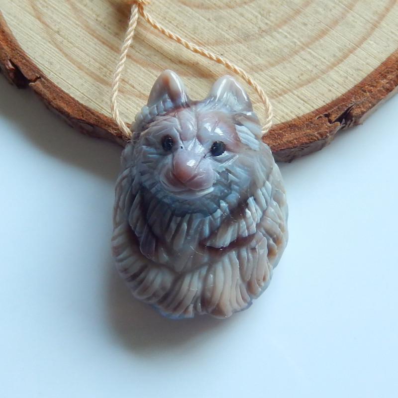 Hand Carved Pendant ,Gemstone Pendant ,Agate Pendant ,Great Craft B716