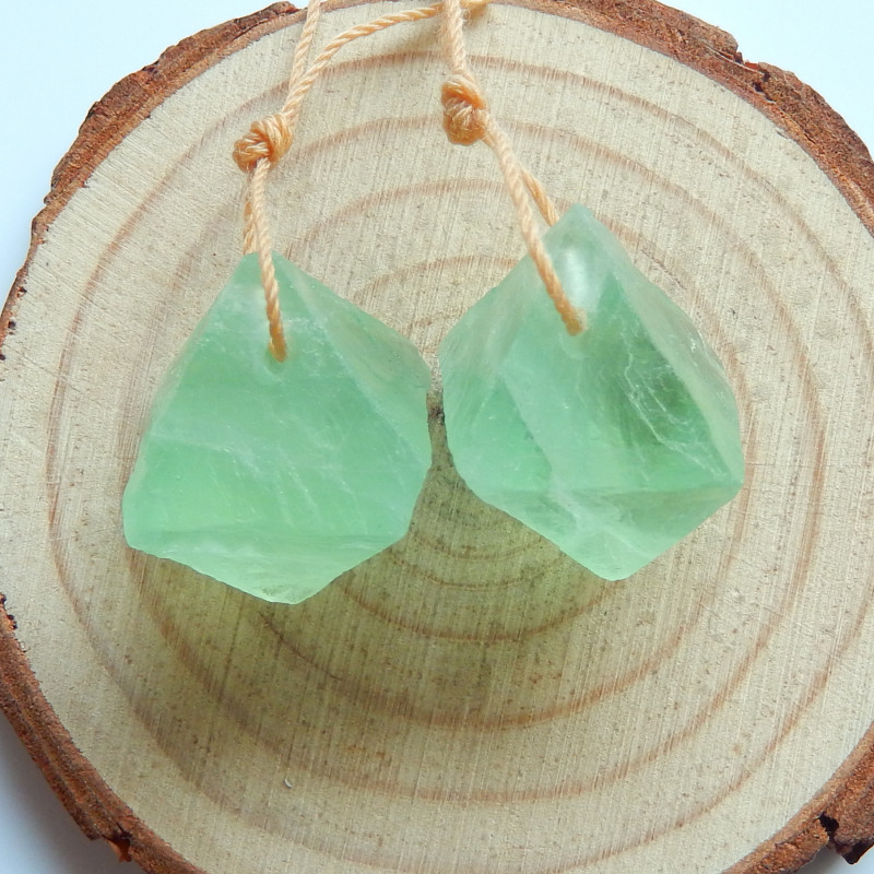 Women's Crystal Unique Fluorite Earrings for Buyers of Semiprecious Stones