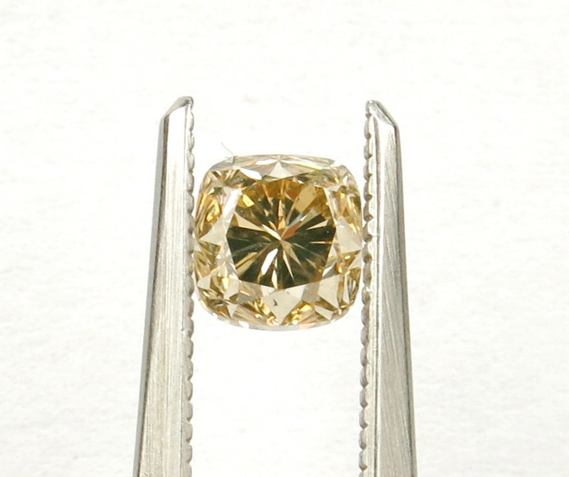 1.01ct Natural Fancy brownish Yellow Diamond GIA certified  + Video