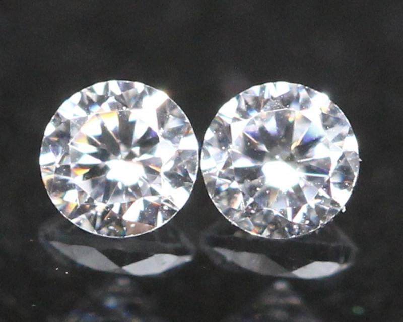 1.80mm D/F Color VS Natural Round Brilliant Cut White Diamond