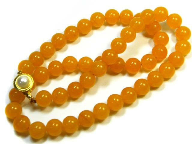 AURA AGATE YELLOW STRINGS 330CTS SGS1065