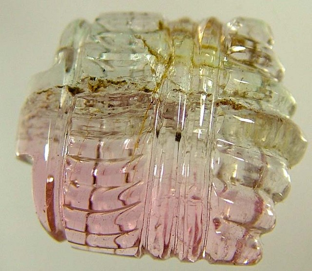 WATERMELON TOURMALINE CARVING STONE 12 CTS FN 3523  (LO-GR)