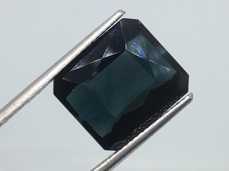⭐️SALE ! 7.04 Carat VVS Tourmaline Deep Indicolite Blue Precision Cut !