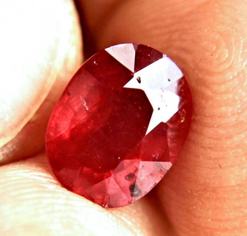 3.43 Carat Top Fire Red Ruby - Gorgeous