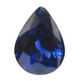 1.36 ct Pear Shape Blue Sapphire (Rich Royal Blue)