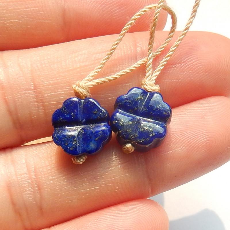 Carved Rose Earrings, Carved Roses, Natural Lapis Lazuli, Gemstone Jeweller
