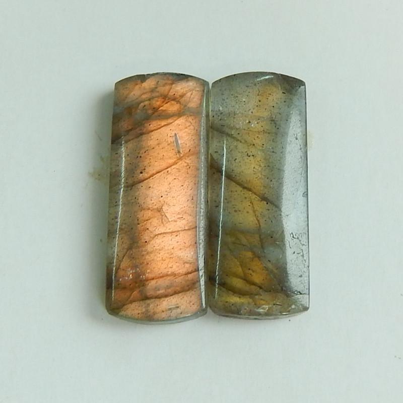 Natural Labradorite Cabochon Pairs , Labradorite Stones Loose Gemstones Cab