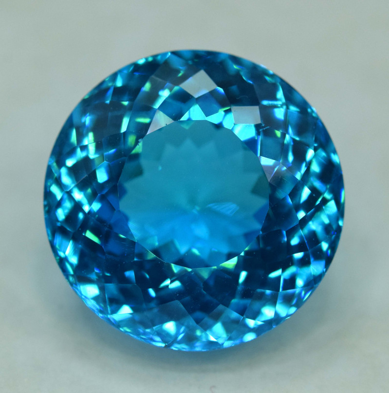 42.10 cts Round Shape Electric Blue Topaz