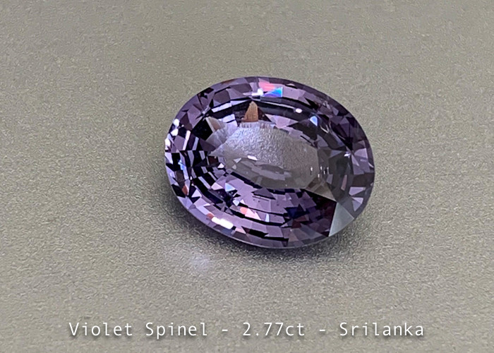 Sparkling Fine Violet Spinel - 2.77ct Oval - Eye Clean Gem - Srilanka