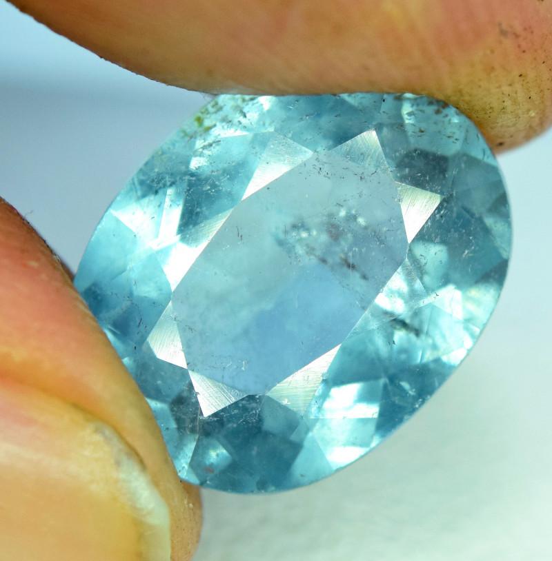 5.15 Carat Tourmaline -- Beautiful Seafoam Blue Stone!