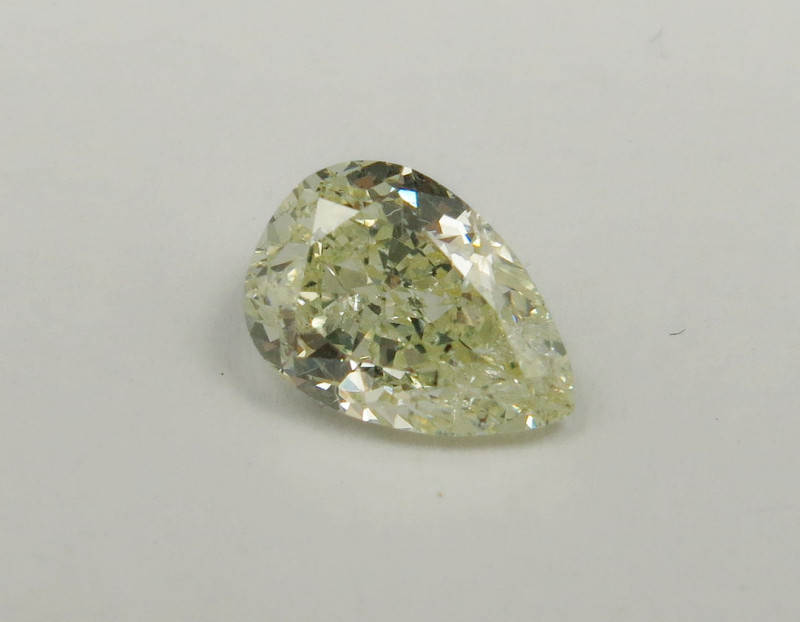 1.02 Natural Diamond - Pear - HRD certified