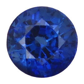 1.31 ct Round Blue Sapphire  (Royal Blue) - GRS Certified