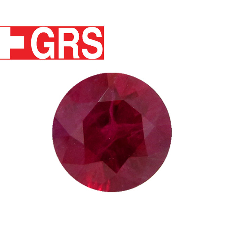 3.08 ct Round Ruby  - GRS Certified