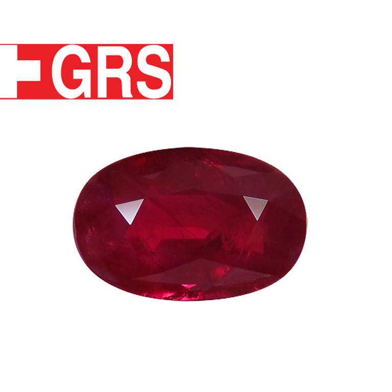 2.52 ct Oval Ruby (Rich Pigeon Blood Red) - GRS Certified