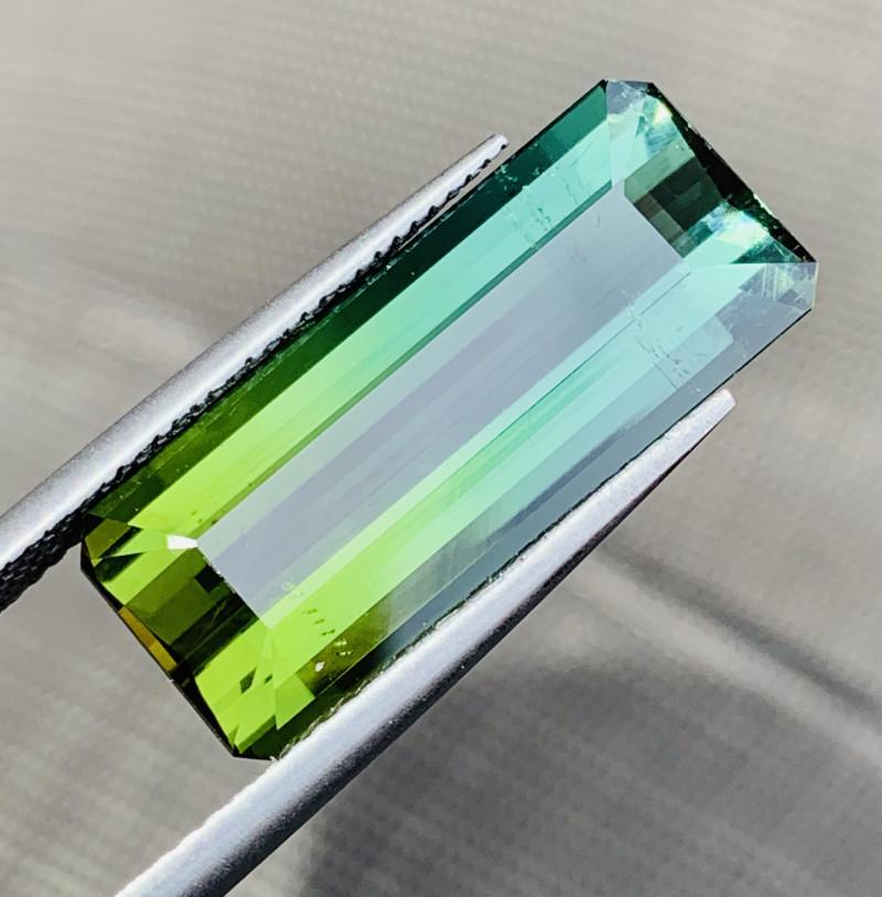 7.35 Ct Natural Bi Color Tourmaline Gemstone