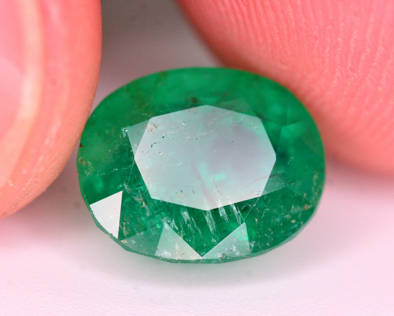 GGL Certified 3.70 Ct Natural Panjsher Emerald. ARA