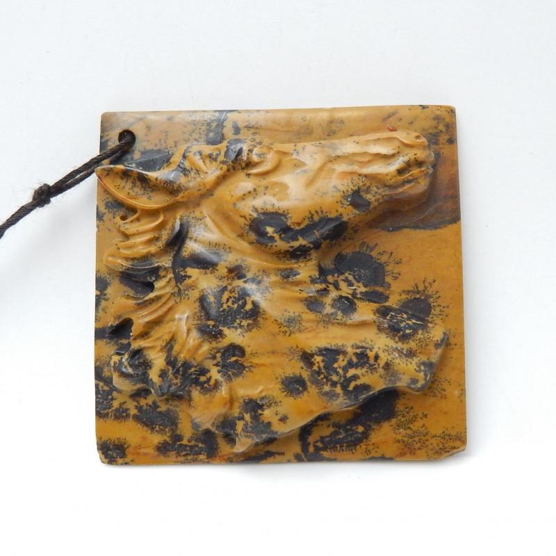 Natural Chohua Jasper Horse ,Hand Carved Pendant ,Carved Horse Pendant B892