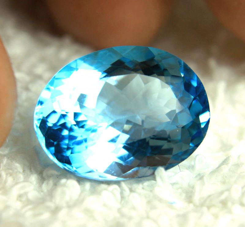 15.38 Carat Brazilian VVS Blue Topaz - Gorgeous