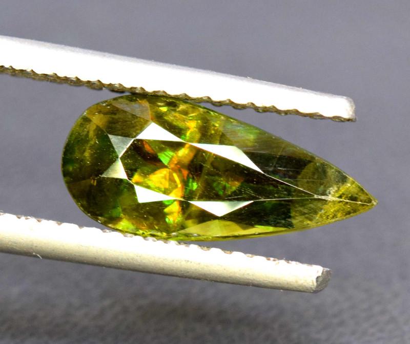 3.35 Carats Full Fire Sphene Titanite Gemstone From Pakistan