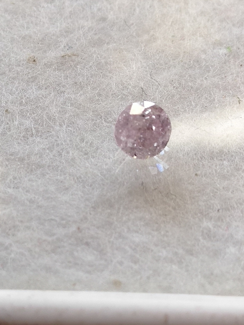 NATURAL-VERYRARE -ARGYLE PINK -PURPLEDIAMOND 4MM-1PCS