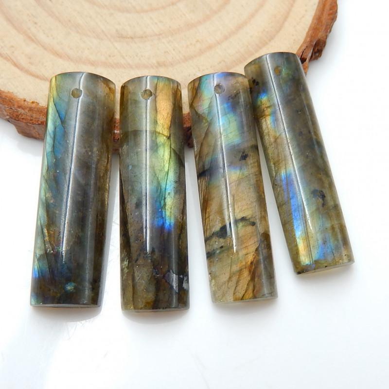 4pcs 50.5ct Labradorite Cabochons, healing Stone ,wholesale Jewelry B910