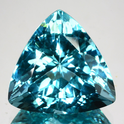 ~ULTIMATE~ 14.31 Cts Natural Apatite - Paraiba Blue Green Color Trillion Br