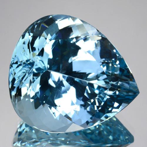 ~GORGEOUS~ 31.82 Cts Natural Beautiful Blue Aquamarine Pear Cut Brazil
