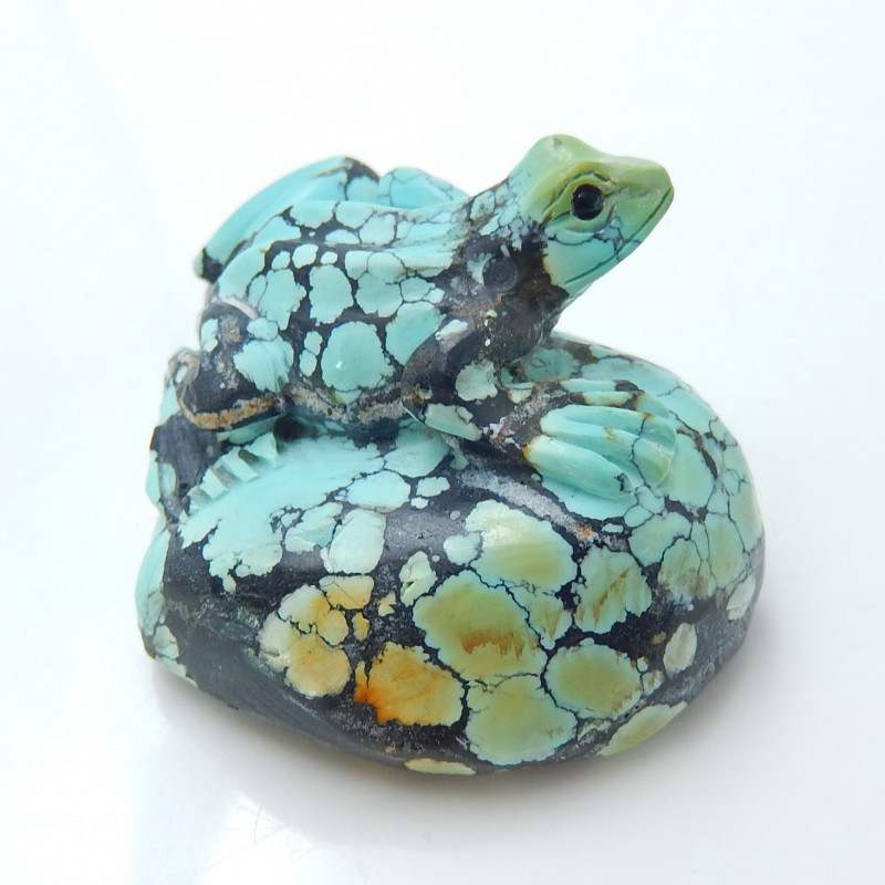 Hand Carved  Turquoise Cabochon ,Frog Cabochon ,Carved Turquoise Frog Caboc