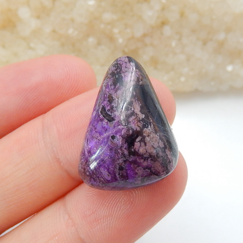 Triangle beautiful sugilite cabochon ,Handmade Gemstone ,Healing Stone B924