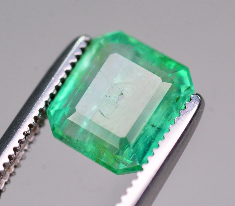 Certified~  1.55 Ct Natural Zambia Emerald Gemstone