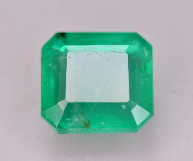 Certified~  1.90 Ct Natural Zambia Emerald Gemstone
