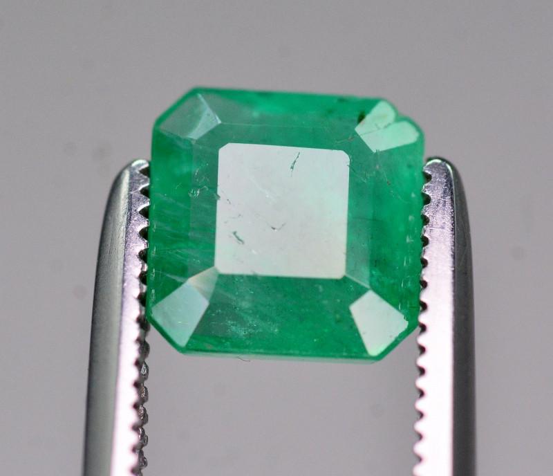 Certified~ 1.20 Ct Natural Zambia Emerald Gemstone