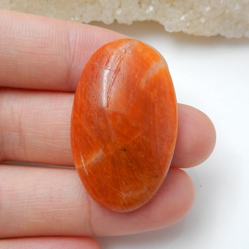 Orange Gemstone ,Birthday Stone ,Rhodochrosite Cabochon ,healing Stone B930