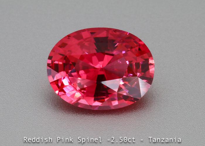 Dazzling  Vivid Pink Spinel - Oval 2.50 ct - Eye Clean Gem - Certified -Mah