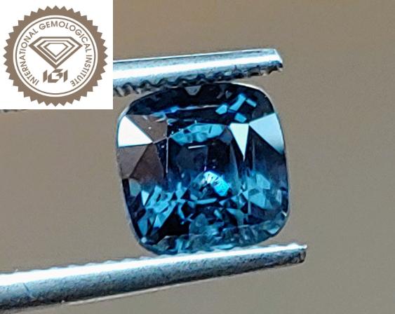 NR! IGI Cert. Unheated Intense Titanium Blue Mahenge Spinel