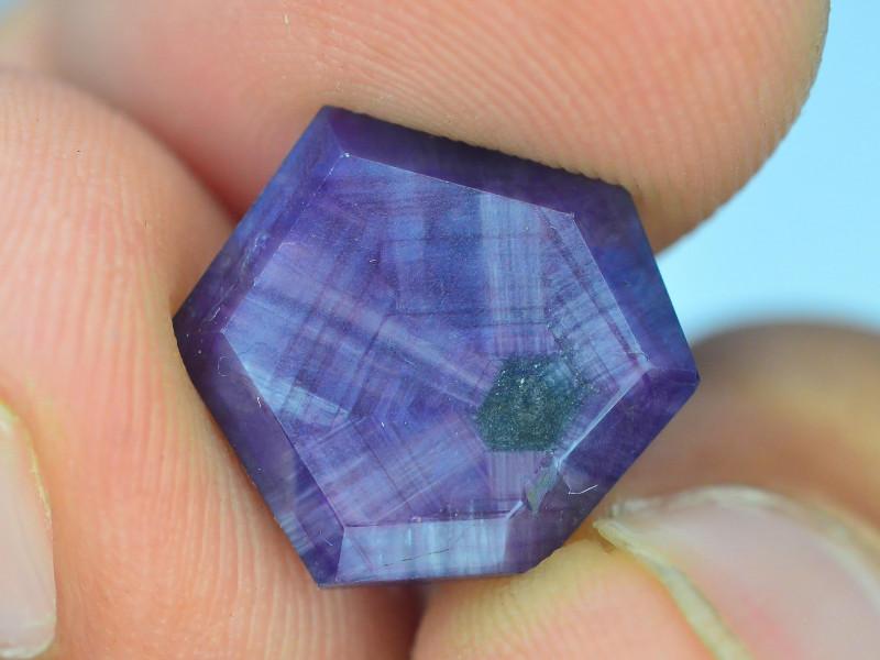 Rarest 10.95 ct  Pink Kashmir Sapphire Trapiche~S