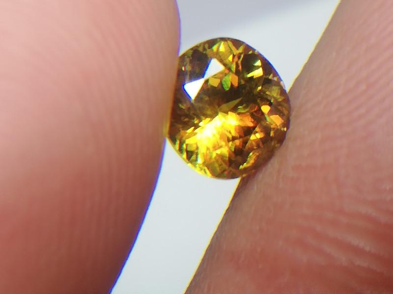 1.40 Round Oval Cut  Full Fire Sphene Titanite Gemstone