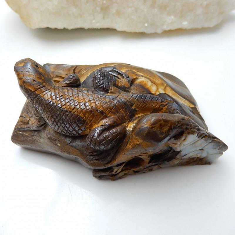 Amazing Great Craft Lizard Cacbochon ,Boulder Opal Lizard Specimen C33