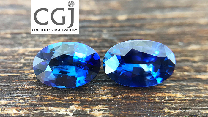 Certified - 1.21ct - Royal Blue Sapphire Pair