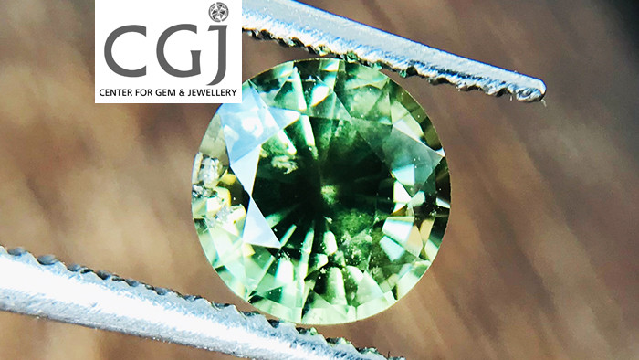 Certified - 0.68ct - Untreated Green Sapphire