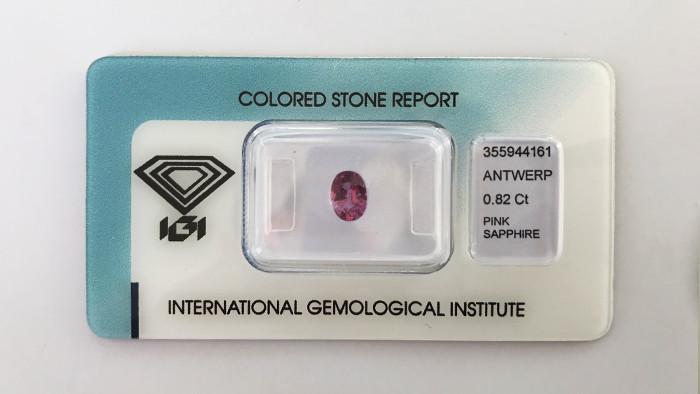IGI Unheated - 0.82ct - Pink Sapphire